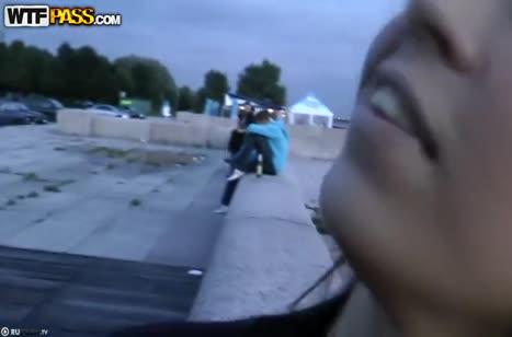 Девушка охотно согласилась на любительский трах с незнакомцем