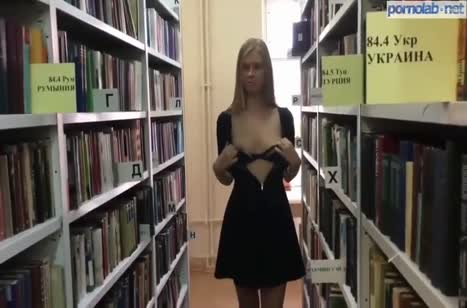 Русские лесбиянки прямо в библиотеке устроили разврат